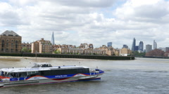 The Thames Clippers Waterbus - stock footage