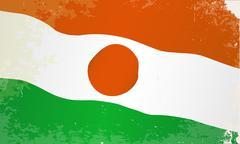 Niger Flag Grunge - stock illustration