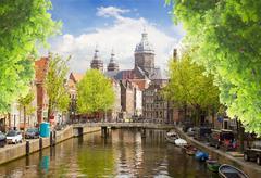 Church of St Nicholas , Amsterdam - stock photo