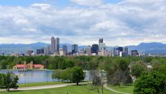 Downtown Denver Zoom In Stock Footage