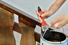 Painting a handrail Stock Photos