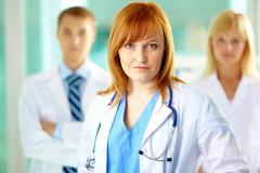 Female practitioner - stock photo