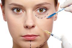Botox therapy Stock Photos