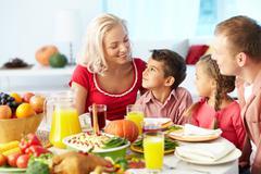 Celebrating Thanksgiving Day Stock Photos