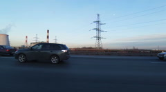 Travel by car on the ring road - stock footage