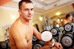 Weightlifter - stock photo