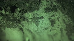 Infrared view of underground iron mine cave Stock Footage