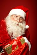 Distributing gifts - stock photo