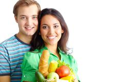 Healthy eaters - stock photo