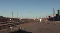 Empty Train Yard - stock footage