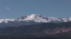Snowy Mountain Peak Near Denver Stock Footage