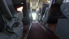 Interior passenger bus Stock Footage