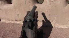 A Canon at a Western Fort - stock footage