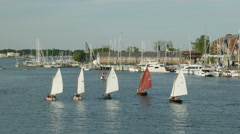 4K Annapolis Yacht Club Wednesday Night Races 1 - stock footage