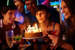 Making a wish Stock Photos