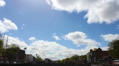 Dublin, Liffey River and City, Time Lapse, Ireland Stock Footage