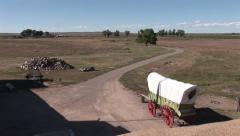 A Trading Post with a wagon Stock Footage