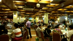 Travel in Macao, in the restaurant collective dining Stock Footage