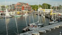 4K Annapolis Yacht Club Activity 1 Stock Footage