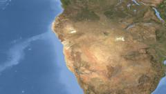 Namibia on maps - Do It Yourself as you like. Neighbourhood Stock Footage