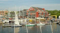 4K Annapolis Yacht Club Activity 2 Stock Footage