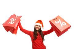 Christmas offer Stock Photos