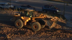 Construction Front-Loader Stock Footage