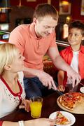 Pizza lovers Stock Photos