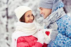 Winter cheers Stock Photos
