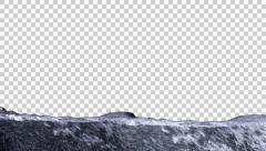 Water Rises Transition Alpha Stock Footage
