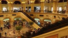 Vestibule Casino Venetian in Macao Stock Footage