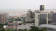 Cityscape of the business and residential areas Macao. - stock footage
