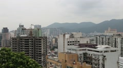 Panorama of the residential areas with apartment houses Macao Stock Footage