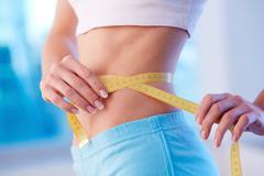 Slim waist - stock photo