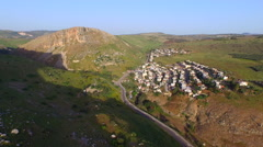 AERIAL of MOUNT ARBEL, SEA OF GALILEE Stock Footage