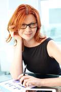 Gorgeous businesswoman Stock Photos