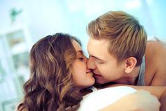 Tender kiss - stock photo