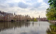 Stock Photo of Famous parliament building complex Binnenhof in The Hague.