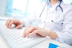Modern medical person Stock Photos