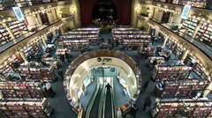 Argentina Buenos Aires library time lapse - stock footage
