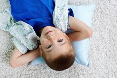 Restful child - stock photo