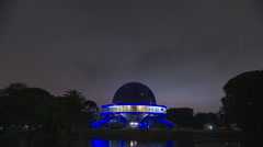 Argentina Buenos Aires Planetarium time lapse - stock footage