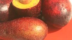 Avocado on plate Stock Footage
