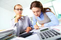 Busy accountants - stock photo