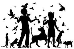 Animal children - stock illustration