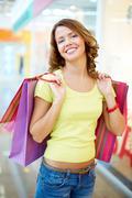 Joyful consumer Stock Photos