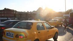 Istanbul traffic jam on the way from Eminonu Stock Footage