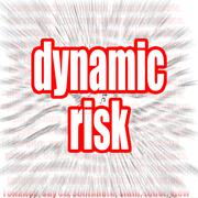 Dynamic risk Stock Illustration