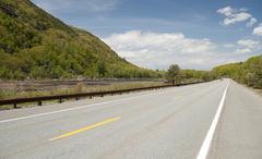 Mountainside Road In Maine Stock Photos