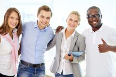 Friends in business Stock Photos